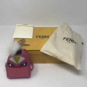 Fendi Micro Monster Backpack Bag Charm w/ Tags
